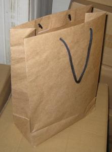 Крафт пакет с веревочными ручками