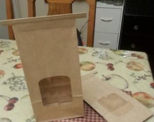 Крафт пакет с клип-лентой 2